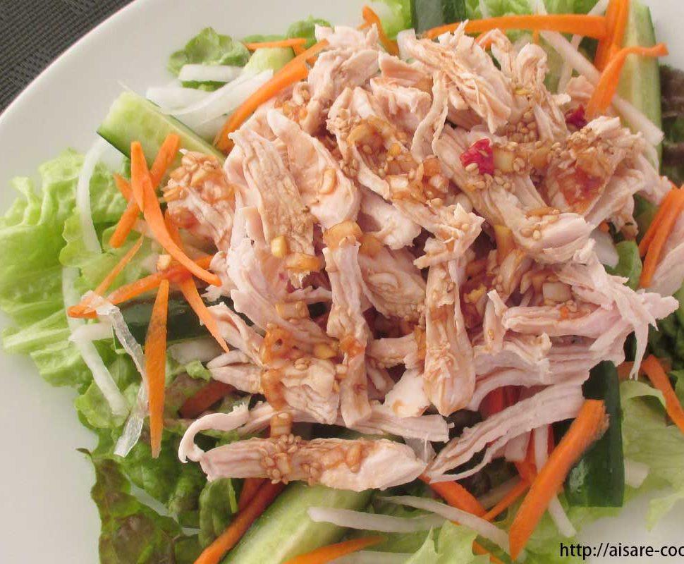 鶏胸肉(ササミ)サラダ