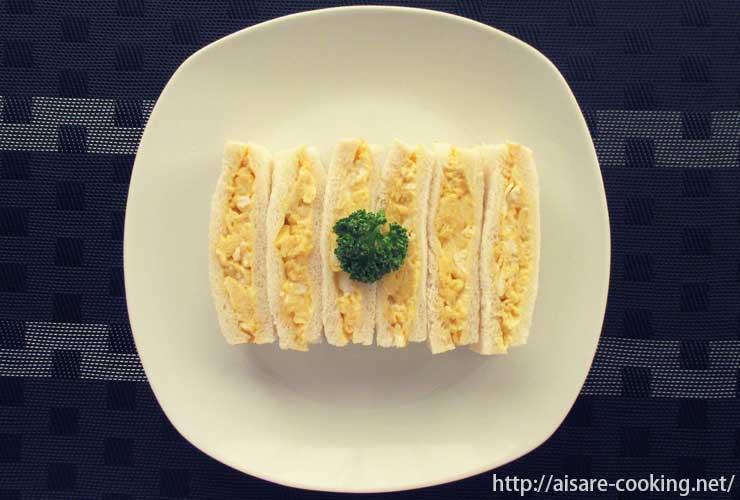 スクランブルエッグサンドイッチ 全体