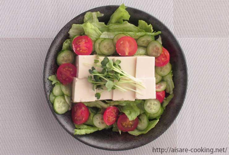 豆腐サラダ 全体