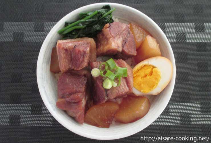 豚の角煮丼 全体