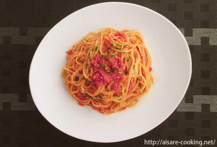 トマトソースパスタ 全体