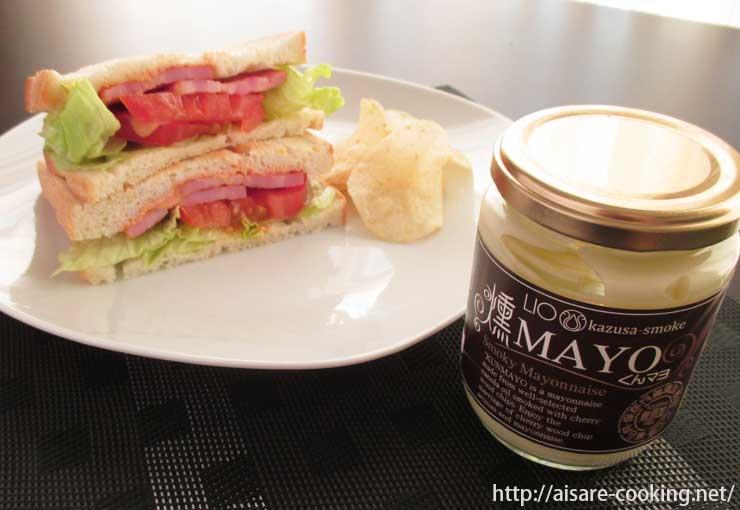 サンドイッチと燻製マヨネーズ