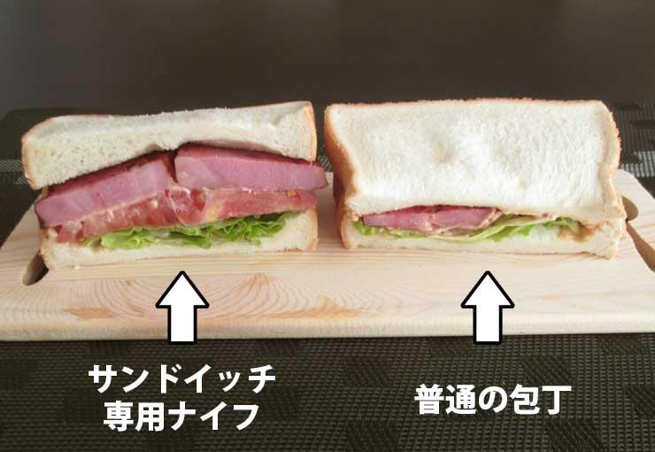 サンドイッチ断面比較