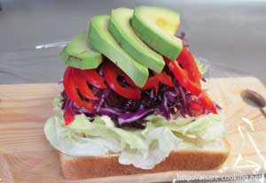 サンドイッチの様子