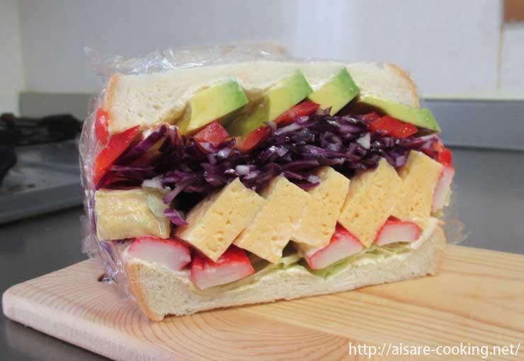 サンドイッチ断面